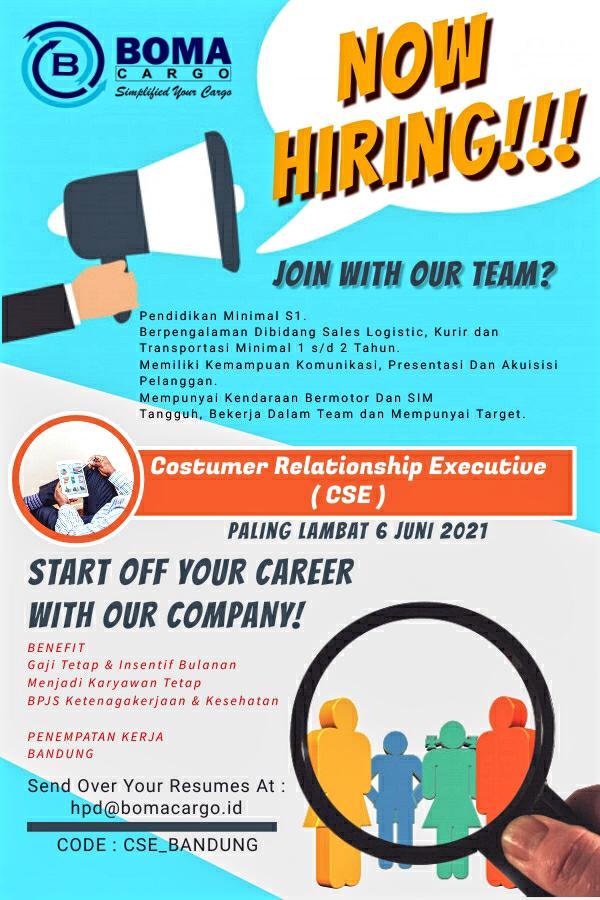 We Are Hiring ! - Boma Cargo Bandung