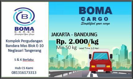 Jakarta - Bandung Rp. 2.000 /Kg