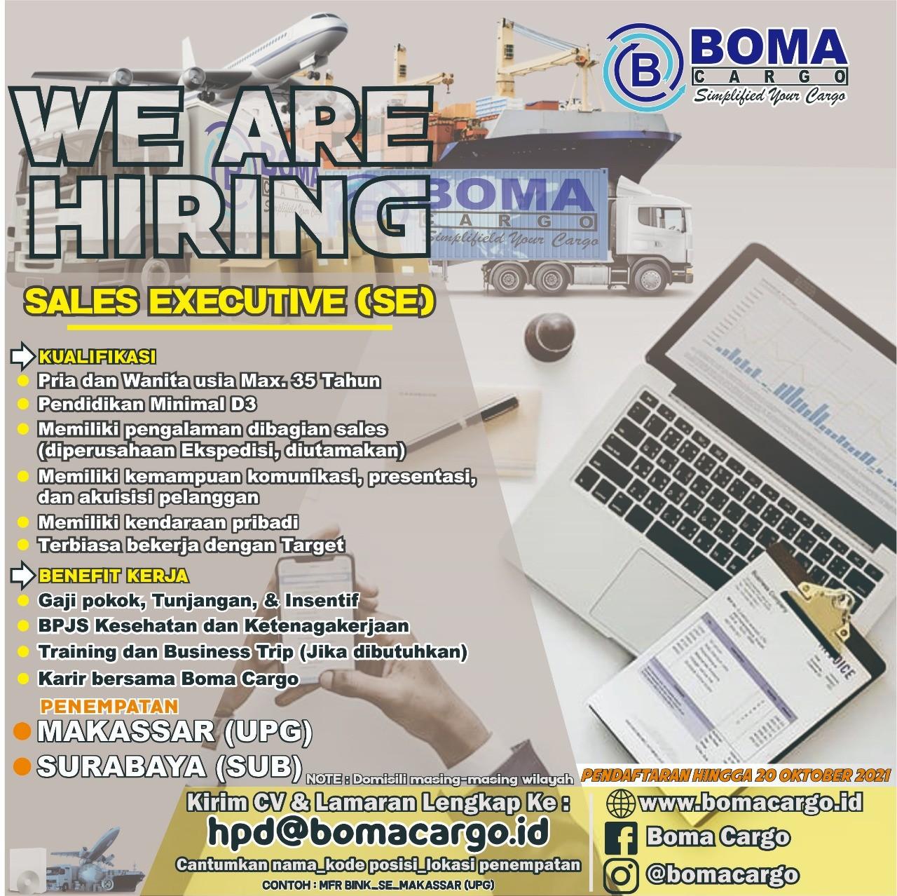 >We Are Hiring ! - Boma Cargo SUB & UPG